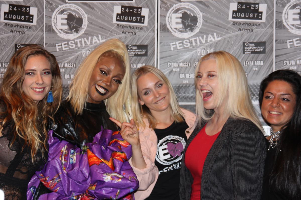 Elin K, Ebony Bones, Melisha, Sylvia Massy, Kimtina